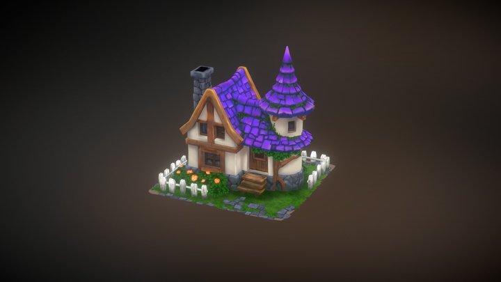 Purple House 3D Model