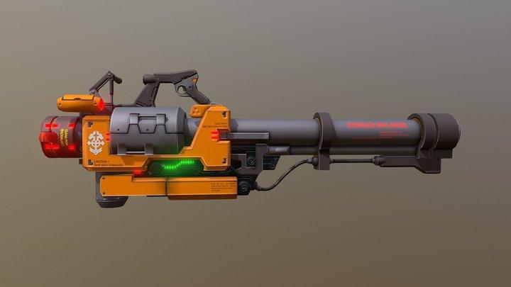 Stinger V1 Rocket 3D Model