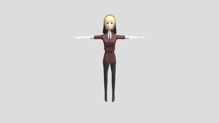 Red Riding Hood Low Poly Model 3D Model