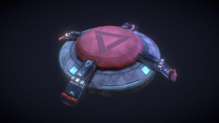 Sci-Fi Pressure Plate -  3D Model 3D Model