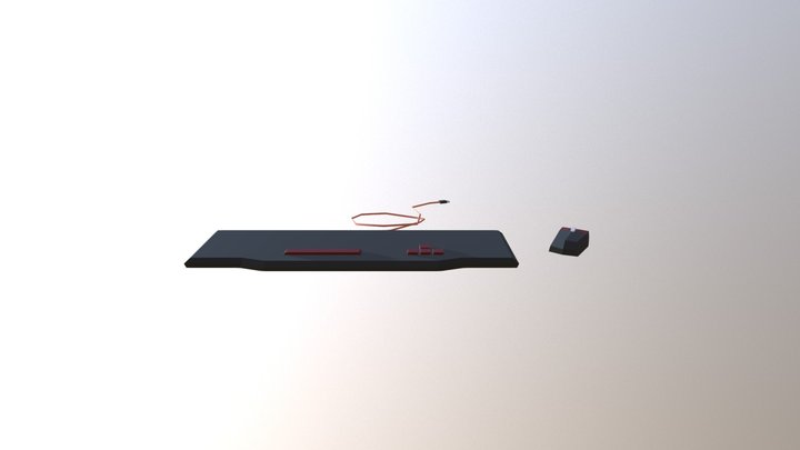 Keyboard & Mouse - Household Props Challenge 3D Model
