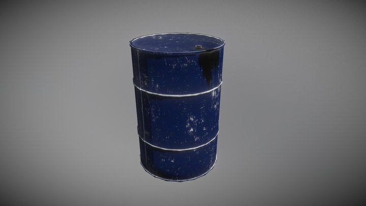 Barrel Lowpoly 3D Model
