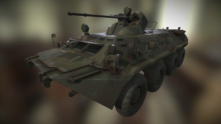 BTR 80A v2016 3D Model