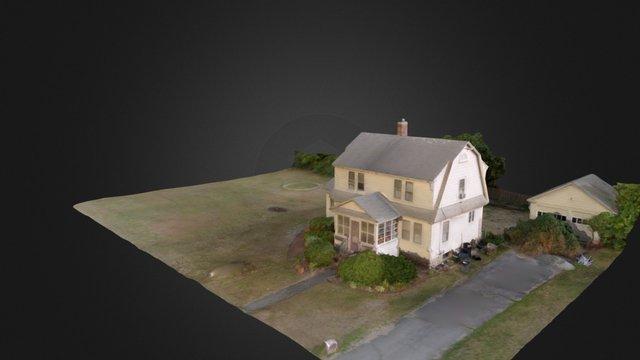 Residential House Aerial Scan 3D Model