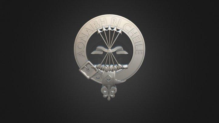 Clan Cameron Crest 3D Model
