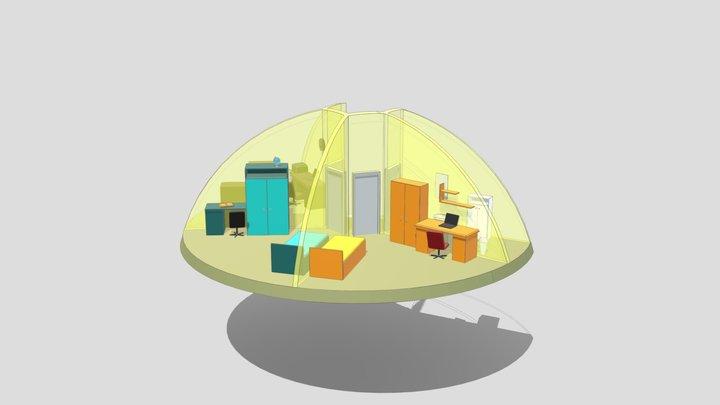 """3d Dome interior (2/2) 11m UAB """"SFEROS"""" 3D Model"""