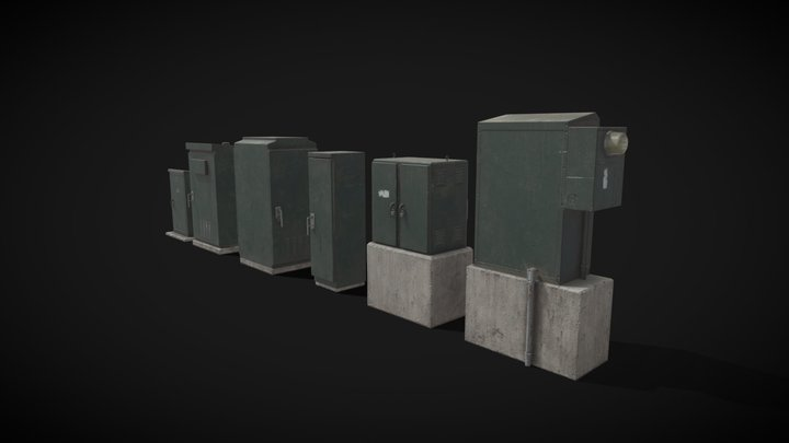 Traffic and Electrical Boxes - SF City Props 3D Model