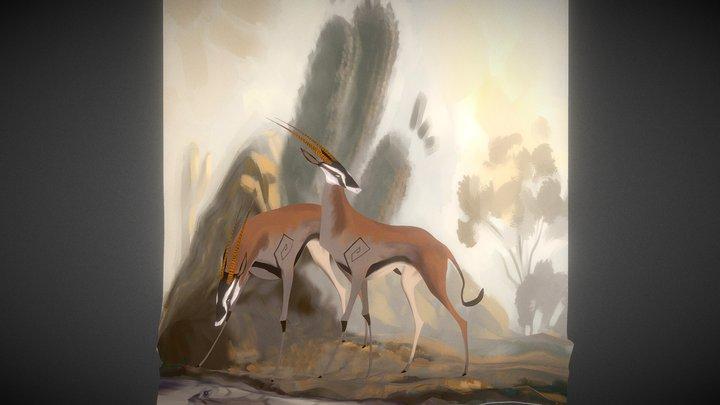 Antilope scene 3D Model