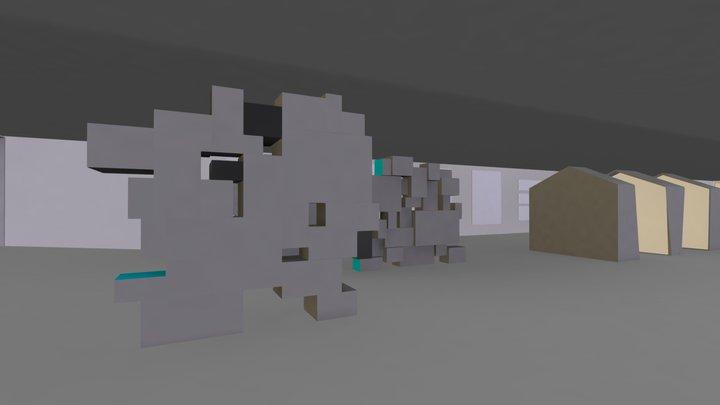 architecture super heros 3D Model