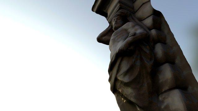 Wall-fixed Statue 3D Model
