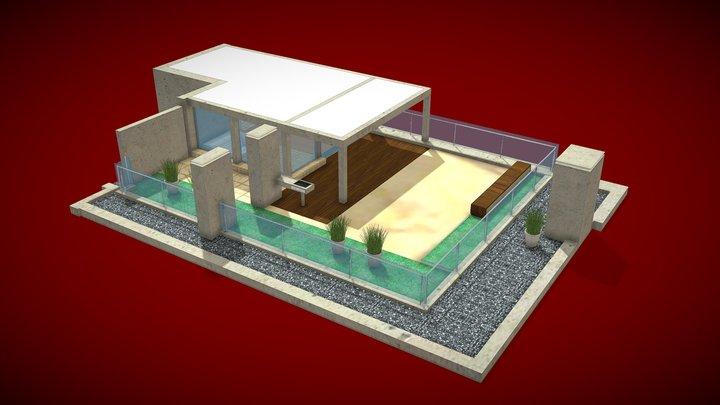 Attic and terrace 3D Model 3D Model
