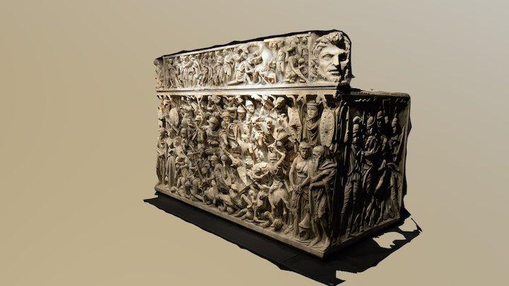 Sarcofago di Portonaccio/Portonaccio sarcophagus 3D Model