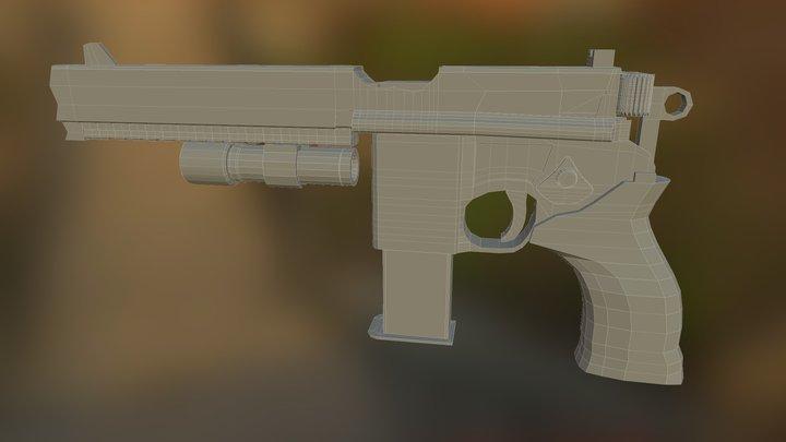 Mauser m96 tactical 3D Model