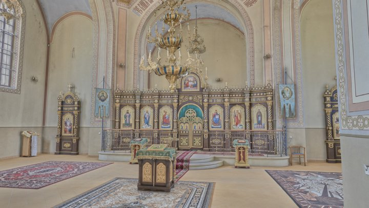 Orthodox Church of St Symeon Słupnik - Interior 3D Model