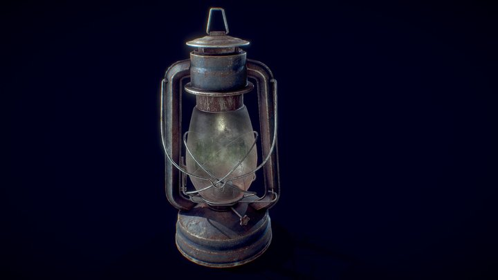 Rusted Old Lantern 3D Model