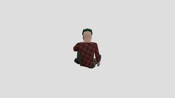 Guy sleeps 3D Model