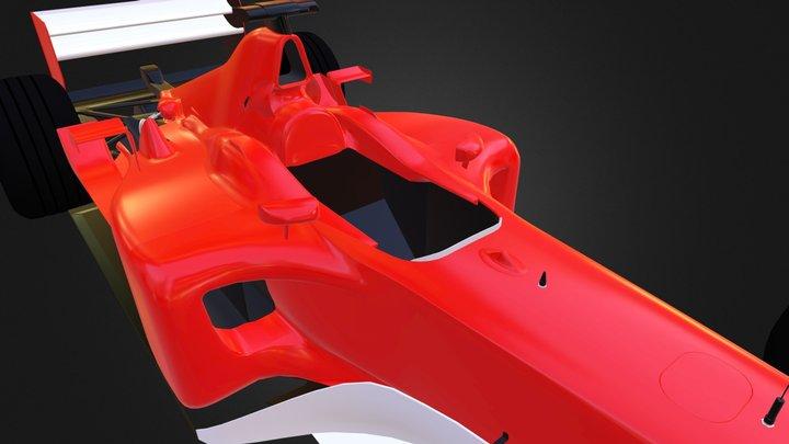 Ferrari F2002 WIP 006 3D Model