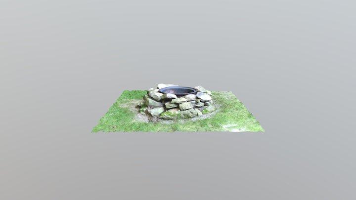 Stone Fire Pit 3D Model