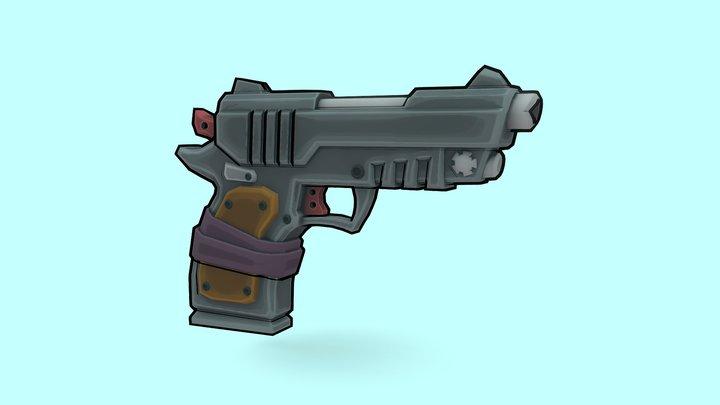 Stylized Pistol 3D Model