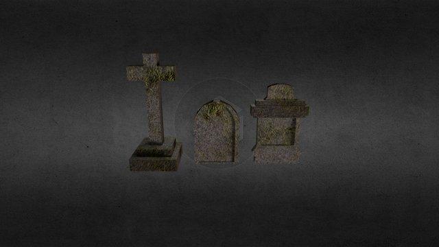 Simple tombs 3D Model