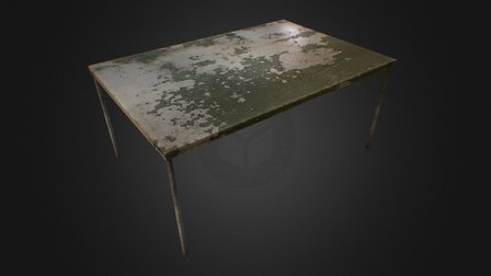 Old Table - Low Poly 3D Model
