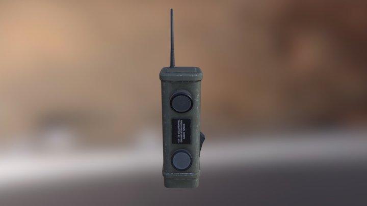 WW2 Walkie Talkie 3D Model