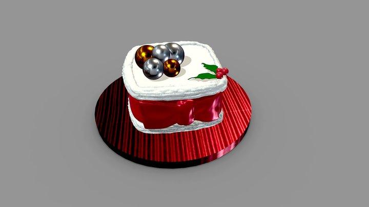 Xmas Cake 3D Model