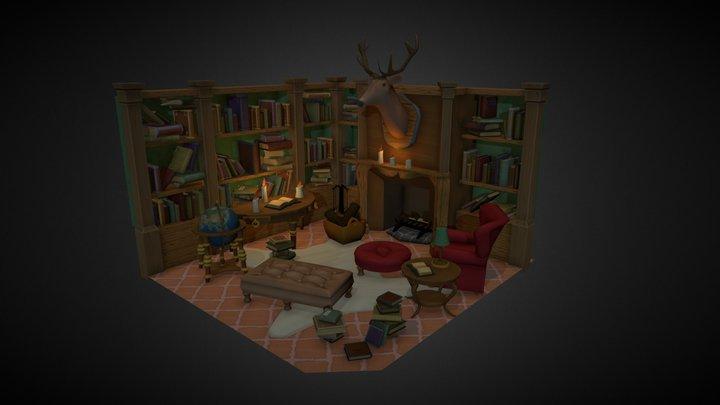 A professor's library 3D Model