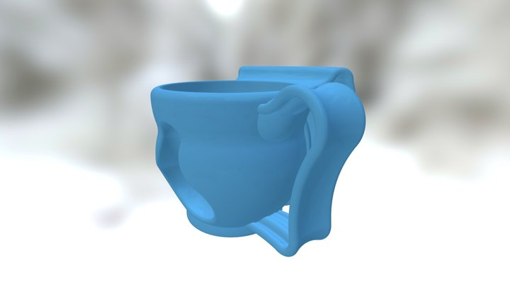Hand and Nose Warming Cup 3D Model