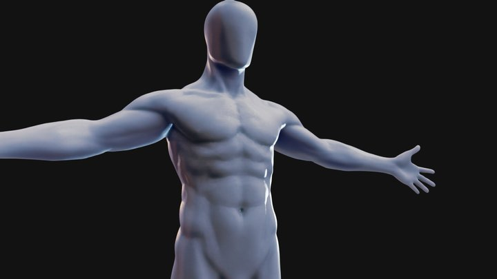 Male Base Body 3D Model