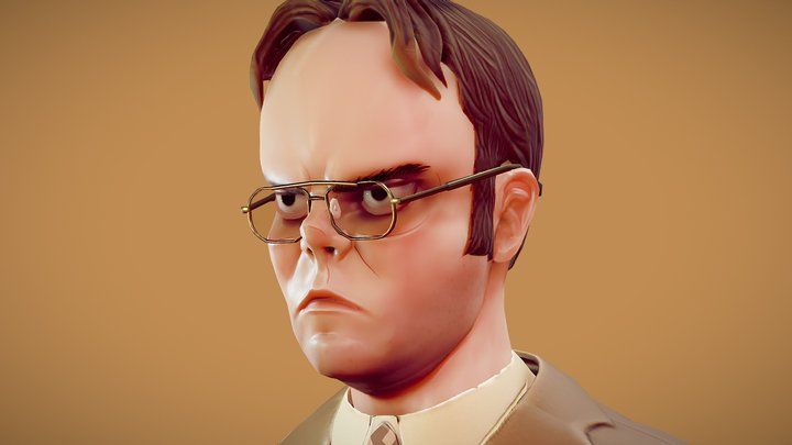 The Office - Dwight Schrute Fan Art 3D Model