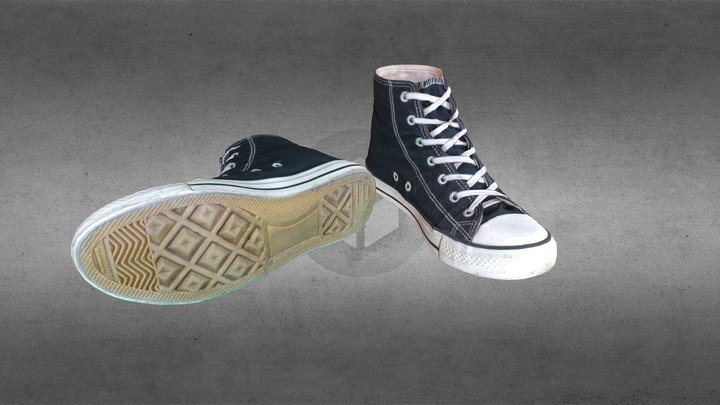 Converse shoes 3D Model