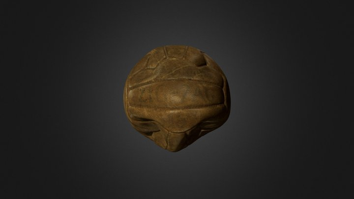 Post-War Football 3D Model