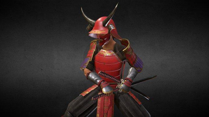 Kiyomi the Ronin, Armor Set Update 3D Model
