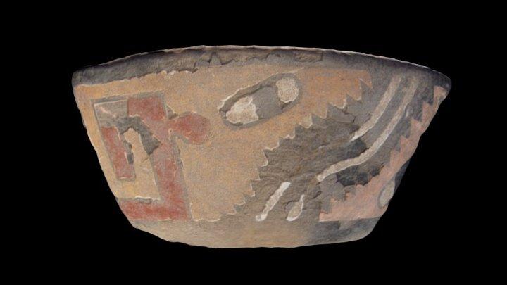 Tiesto de cerámica pseudo-cloisonné 3D Model