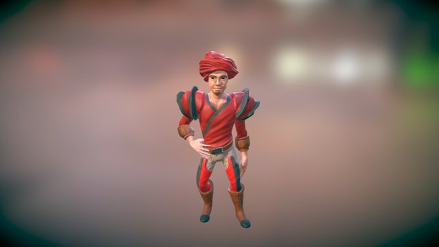 Alaric the médiéval Character 3D Model