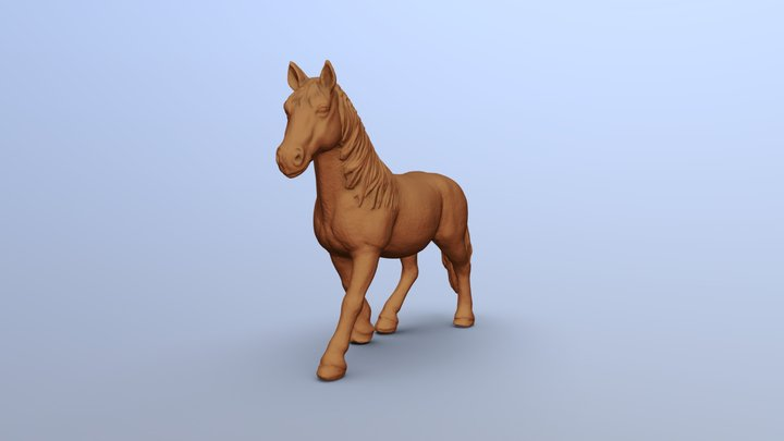 Horse toy 135x100x33 mm scanned with D3D-s 3D Model