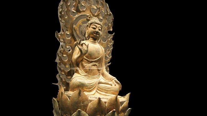 Gilt bronze statuette of Sakyamuni Buddha 3D Model