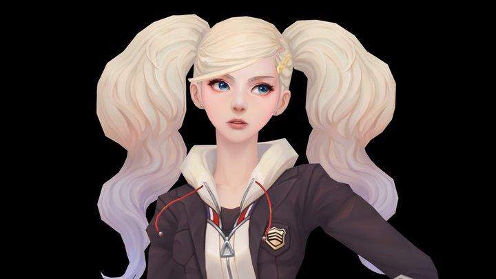 Anne_Persona 5 3D Model