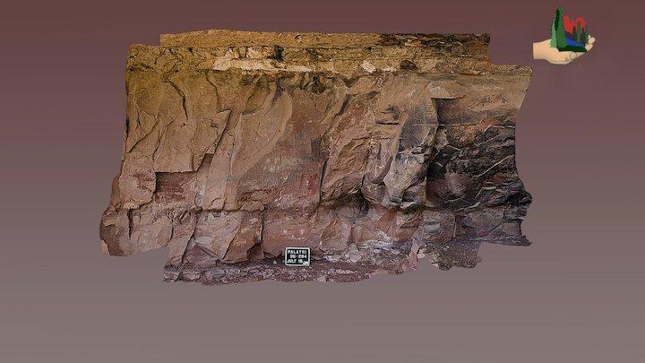 FS0407 Palatki Grotto Panels 2, 3 & 4 3D Model