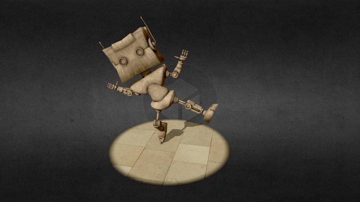 Wooden Robot 3D Model