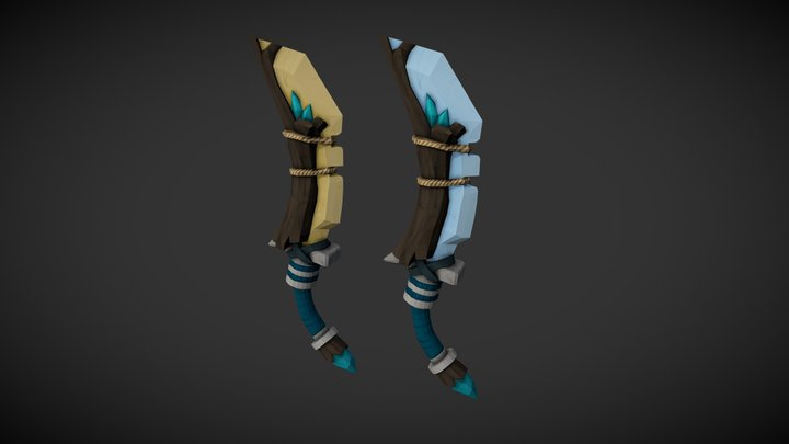 Hand Painted Daggers 3D Model