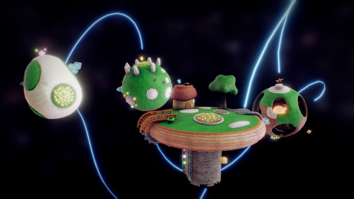 Super Mario Galaxy (Gateway Galaxy) 3D Model