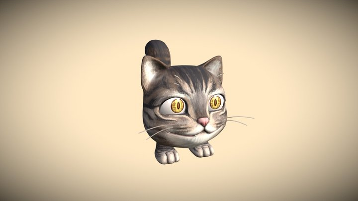 Cute Monster Cat (Bakeneko) 3D Model