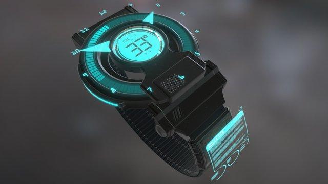 Sci-Fi Wriswatch 3D Model