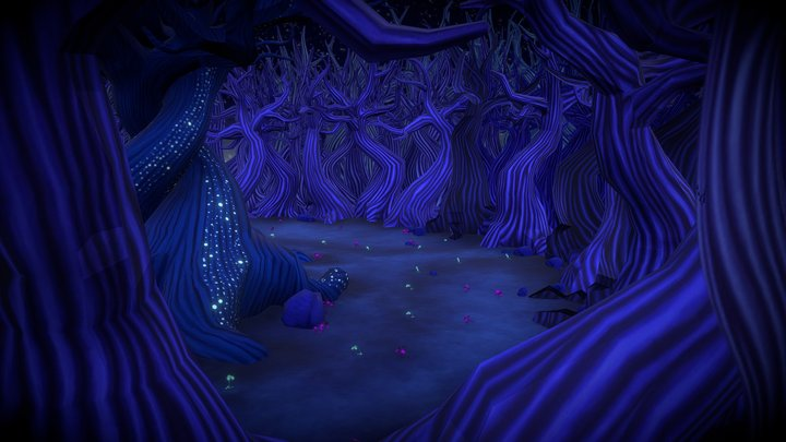 Dreamweaver Animated Film: Center Clearing Set 3D Model