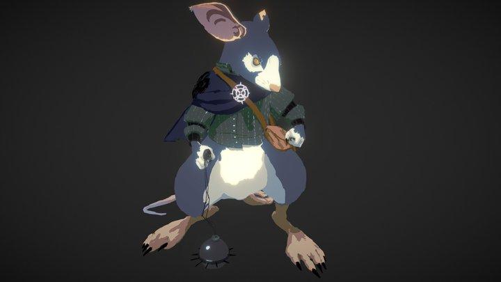 Ratman - Oculus Quill drawing 3D Model