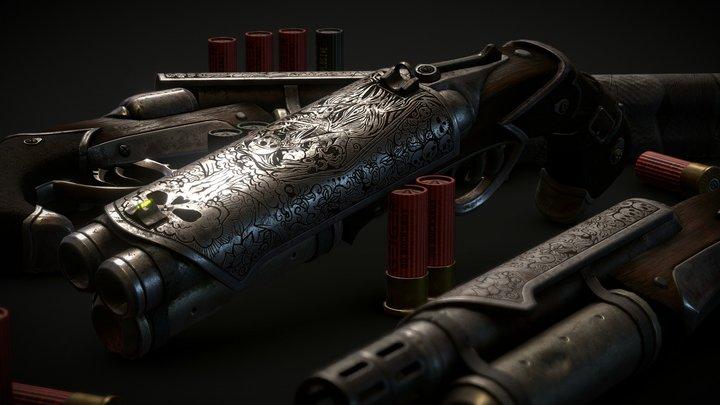 Widow Shotgun 3D Model