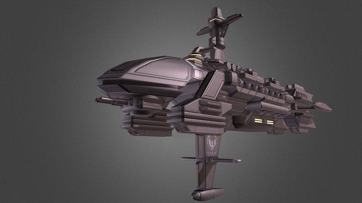 Armored Cruiser Athena 3D Model