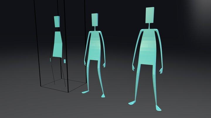 Stick figure Test 3D Model
